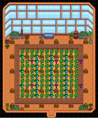 A Fairly Optimal Greenhouse Design And Layout Stardew Valley Forums View detailed statistics about the crop starfruit in stardew valley. a fairly optimal greenhouse design and